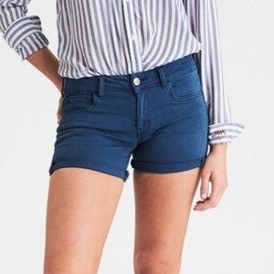 AEO Super Stretch Twill Midi Shorts - Blue